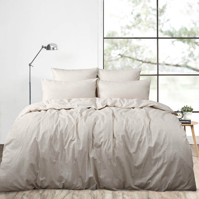 Placeholder 4pcs Real Washed Linen Duvet Cover Set King French Bedding Sets Pure Sheets Queen Size