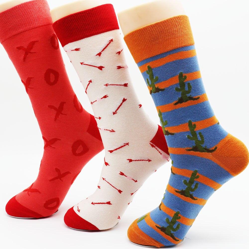 Free Shipping Dress Socks Casual Mens Dress Socks Cartoon Colorful Funky Socks Dress Socks Wedding Gifts (3 pairs)