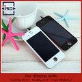 10 шт./лот LCD Сенсорный Экран + Замена Дисплея Планшета Ассамблеи Для iPhone 4 4 Г 4S GSM CDMA Черный & Белый DHL быстрая доставка