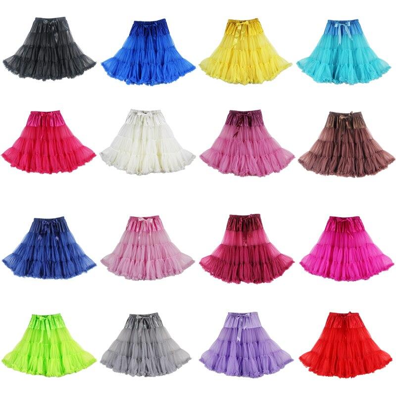 20 PCS Tutu Pettiskirt Women Tulle Skirt Custom 65cm long 2 layers Tulle 1 lining Fluffy Soft Sexy Pleated Chiffon Petticoat