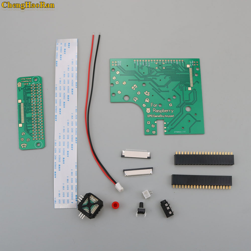 Image 2 - ChengHaoRan 6 Buttons PCB Board Switch Wire Connector Kit For Raspberry Pi GBZ For Game Boy GB Zero DMG 001-in Replacement Parts & Accessories from Consumer Electronics