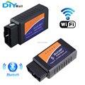 DIYmall ELM327 WiFi сканер Bluetooth сканер OBD2 OBDII автомобильный диагностический сканер считыватель кода инструмент