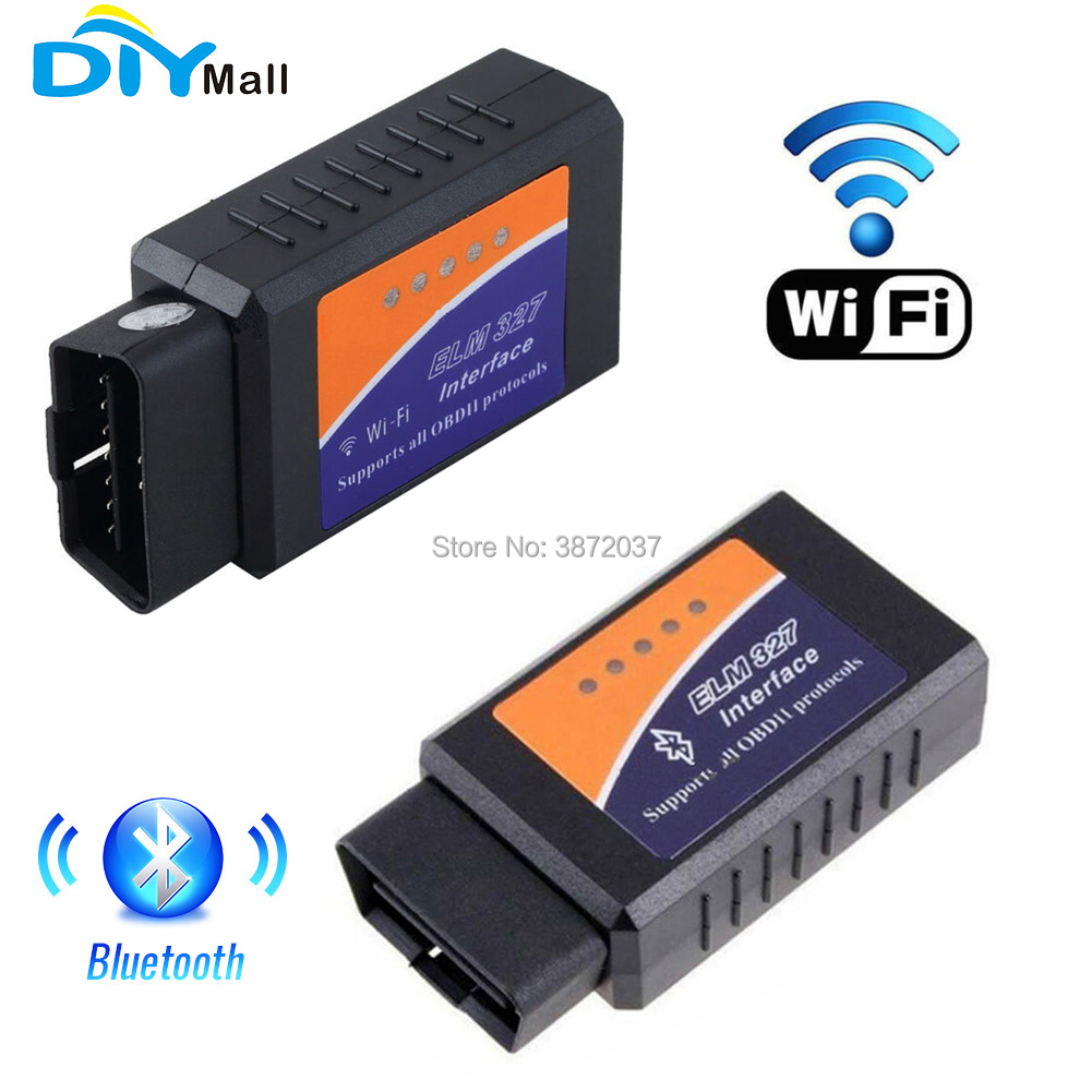DIYmall ELM327 WiFi Scanner Bluetooth Scanner OBD2 OBDII Car Diagnostic Scanner Code Reader Tool