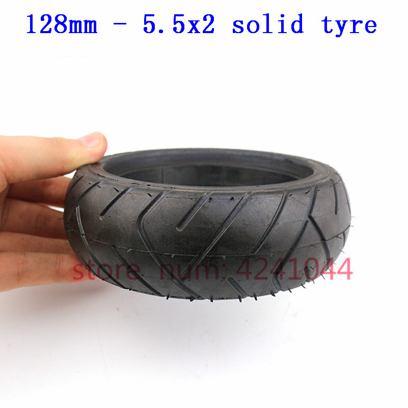Fastwheel F0 Rear Wheel Solid Tire 5.5X2 Inch Explosion Proof Tire For Jackhot Carbon Fiber Scooter Fastwheel F0 Electric Scoote