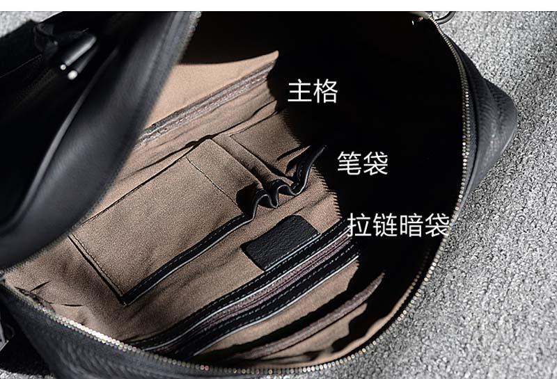 Aetoo Simple Messenger Noir En Cuir Épaule Fourre Mâle Coréen Hommes tout De Sac Serviette Solide D'affaires Vachette rqrpB0