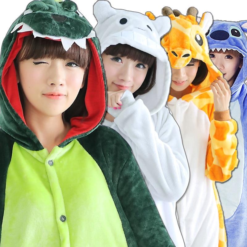 Cartoon Animal China panda Pajamas Cosplay For Women men Adult Unisex Pajamas Long sleeve Flannel Winter Autumn Sleepwear ...