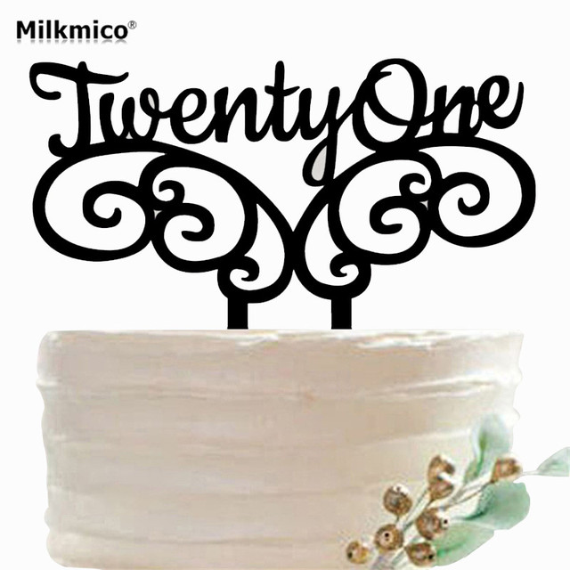 Aliexpresscom Buy 21th Anniversary Acrylic Wedding Cake Topper