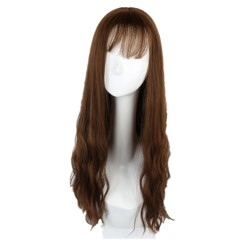 Soloowigs Kinky Curly Brown/Black Medium Girl Full Lace Wigs High Temperature Fiber Hair ...