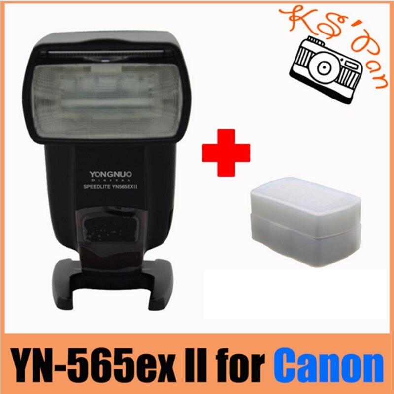 Yongnuo YN-565EX II for Canon, YN565EX YN-565 EX ETTL E-TTL Flash Speedlight/Speedlite D550 D600+HK Post+1 year warranty yn e3 rt ttl radio trigger speedlite transmitter as st e3 rt for canon 600ex rt new arrival