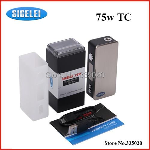 Здесь можно купить   Original Sigelei 75w TC Variable Wattage 5W-75W Temperature Control Box Mod 18650 Battery Sigelei 75w  in stock Бытовая электроника