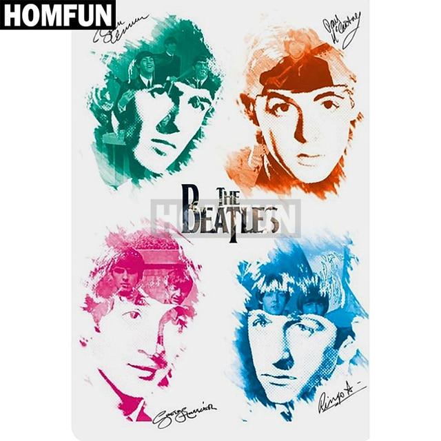 Homfun Full Squareround Drill 5d Diy Diamond Painting The Beatles