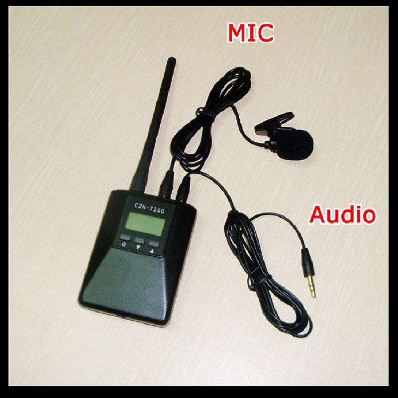 CZE T200 Portable 0 2W FM Transmitter Radio Broadcast Stereo Mono Power Adjustable for Tourism Driving