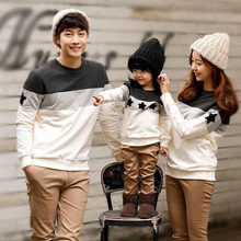 Family Look 2017 spring family clothing spring Couples clothing Dad Mon Kids long sleeved t-shirt family matching clothes(China)