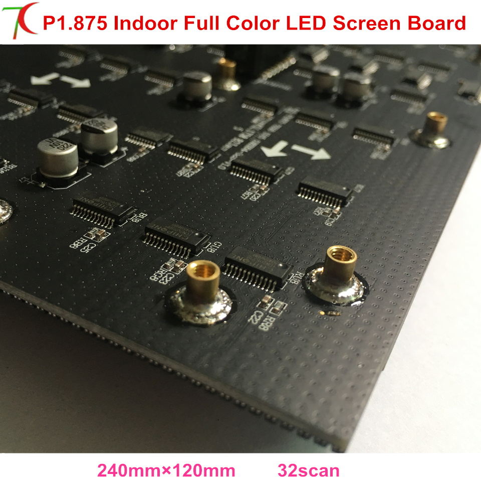 P1.875 Indoor Full Color Led Board For High Definition Led Video Wall Led Screen Install On Meeting Or Rental Display