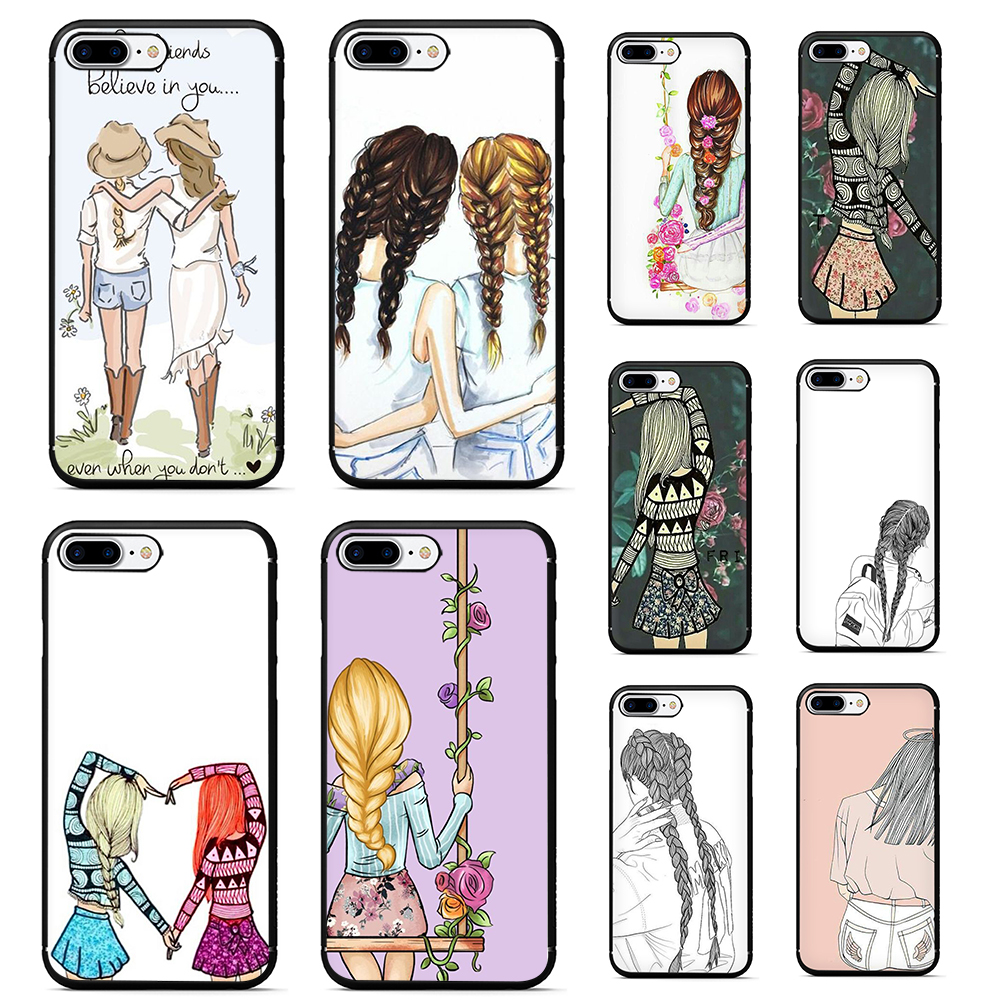 Best Friends coque for iphone 7 plus <font><b>BFF</b></font> <font><b>phone</b></font> <font><b>case</b></font> for iphone 6 6s 7 8 plus X XR XS MAX 5 5s soft tpu back cover image