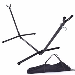 (US) Hammock Accessory Portable Hammock Stand Black Background & Silver Flower Dropshipping