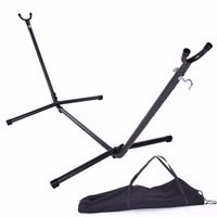Hammock Accessory Portable Hammock Stand Black Background & Silver Flower Dropshipping