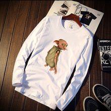 5603e7297 2018 T-Shirt de Algodão Puro Maquineta do Filme Harry Potter Figura Impresso  Manga Comprida Moda Tops Casuais   T Marca de Roupa.