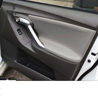 4PCS Auto Accessory Microfibre Leather Interior Doors Panel Armrest Cover For Toyota Verso 2014 15 16 17 AAB180