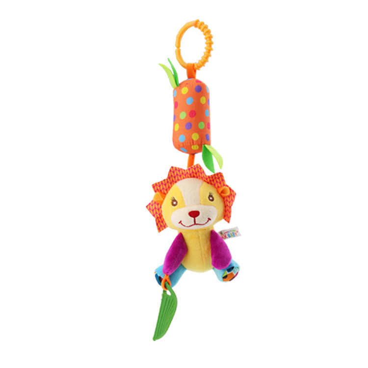 ZWX095-1 Car Hanging Bed Hanging Baby Animal Rattle Wind Chime Toy Baby Child Rattle Toy Cartoon Animal Plush Hand Bell Baby Toy