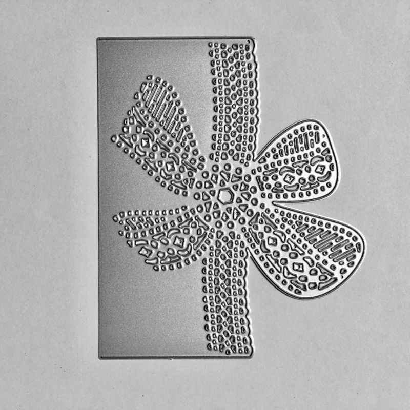 Bow Lace Metal Cutting Dies Stencil DIY Scrapbooking Album Stamp Paper Card Embossing Craft Decor