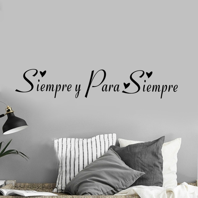 Siempre Y Para Siempre Spanish Always And Forever Quote Wall Decal Art Home  Decor Sticker