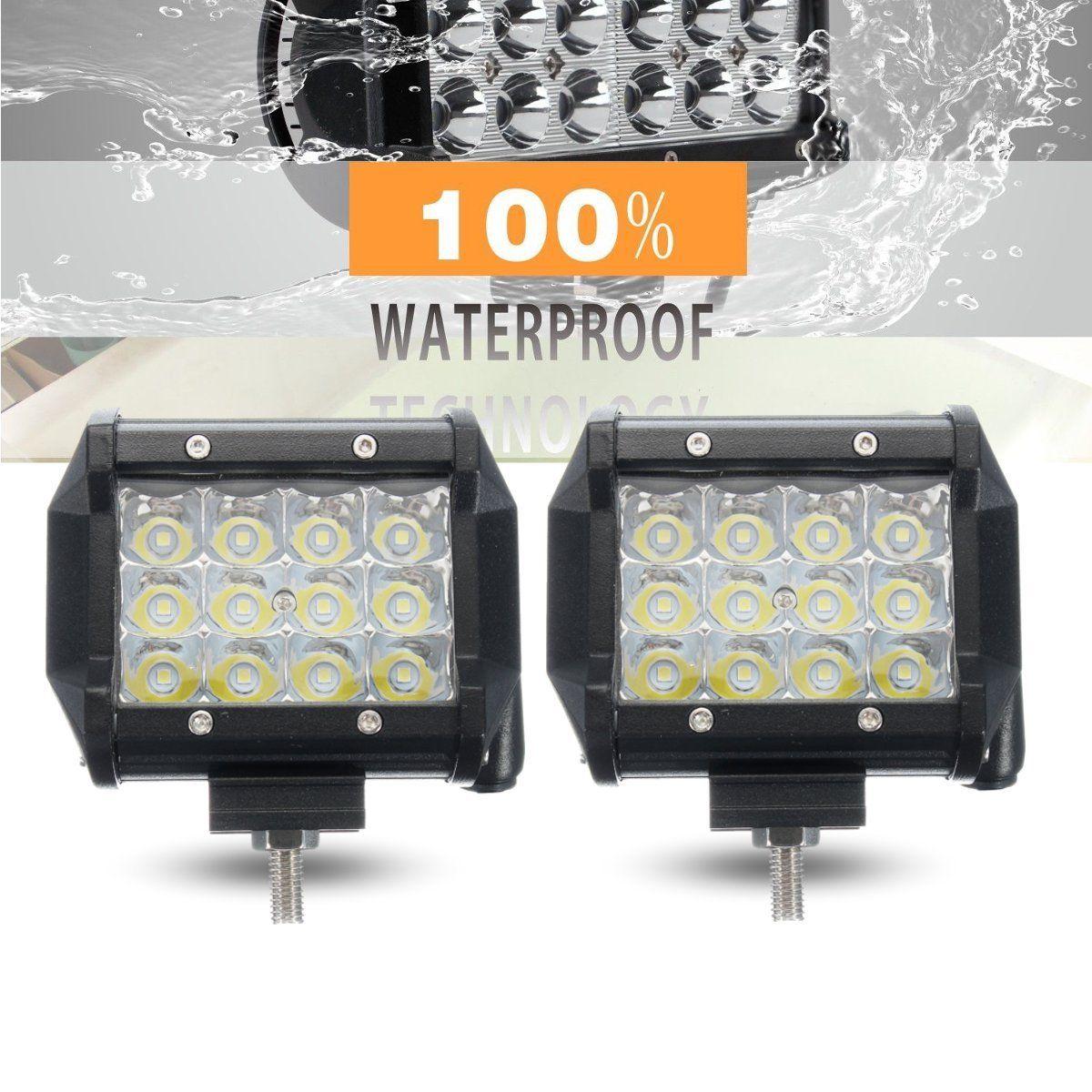 цена на IKVVT 2pcs 5inch 36W LED Car Work Light Bar Flood Beam Off Road SUV Fog Driving Lamp