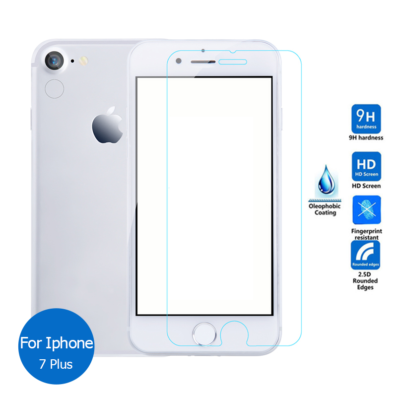 For Iphone 7 Plus Tempered glass Screen Protector 9H Safety Glass Film on Iphone7Plus I7 A1661 A1784 A1785 A1786 A 1661 1784