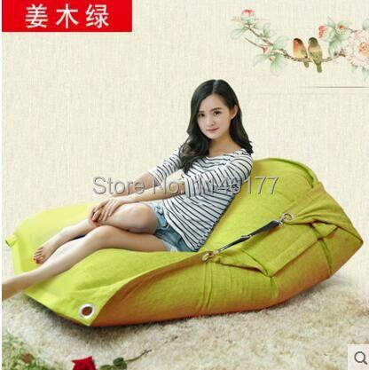 Gengibre Verde Beanbag beanbag cadeira dobrável de Madeira simples de algodão Duplo sofá beanbag cama tatami cama computador Ywxuege