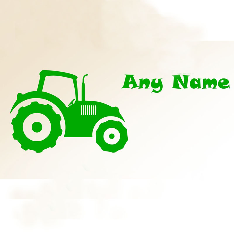 Customized Any Name Car Wall Decals Kids Bedroom Vinyl Removable Adhesive Wall Stickers Cartoon