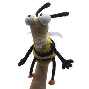 Детская ручная кукольная игрушка с животными, Классическая каваи, ручная кукла, новинка, симпатичная Би плюшевая кукла, подарок для детей, м...