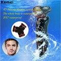 Kemei 3d flutuante barbeador elétrico para homens máquina de cortar cabelo profissional à prova d' água 110-240 v homens barbeador elétrico de barbear recarregável