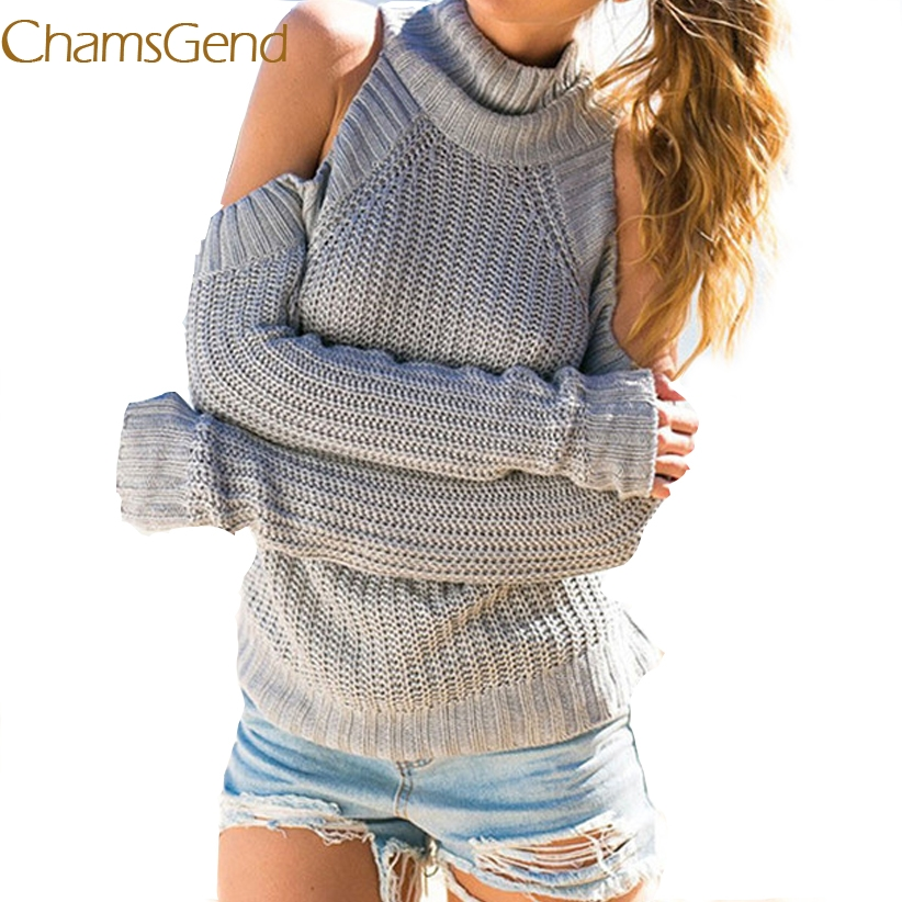 Chamsgend Newly Design Women Sexy Off Shoulder Crochet Knit Wool Sweater Female Winer Coat Pullovers Drop Shipping 70925