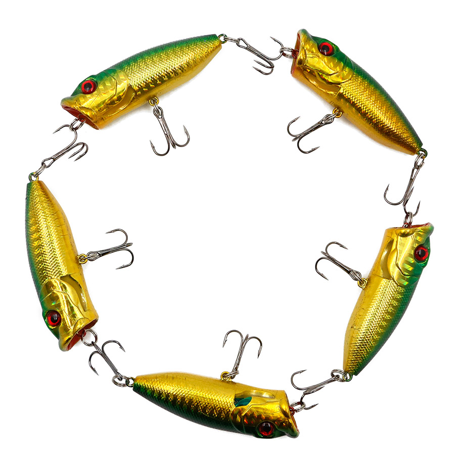 5PCS Artificial Hard Minnow Crank lures Colorful big mouth fishing bait with 3D Eyes Wob ...