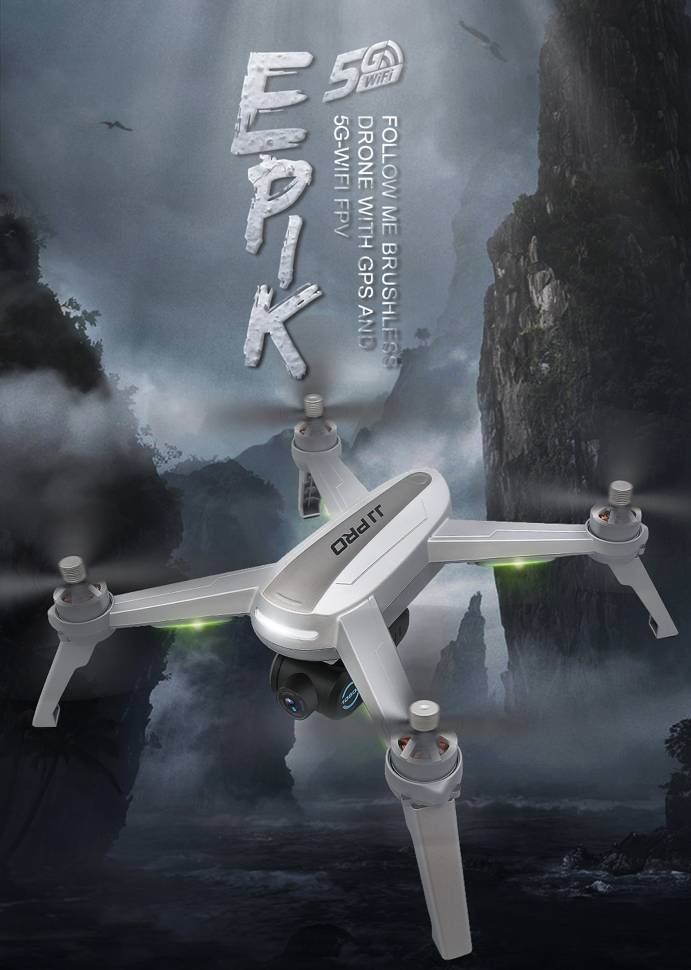 JJRC JJPRO X5 Professional Drone with Camera 1080P Brushless Motor High Hold Quadcopter Auto Follow GPS Positioning Fly  Mins 4