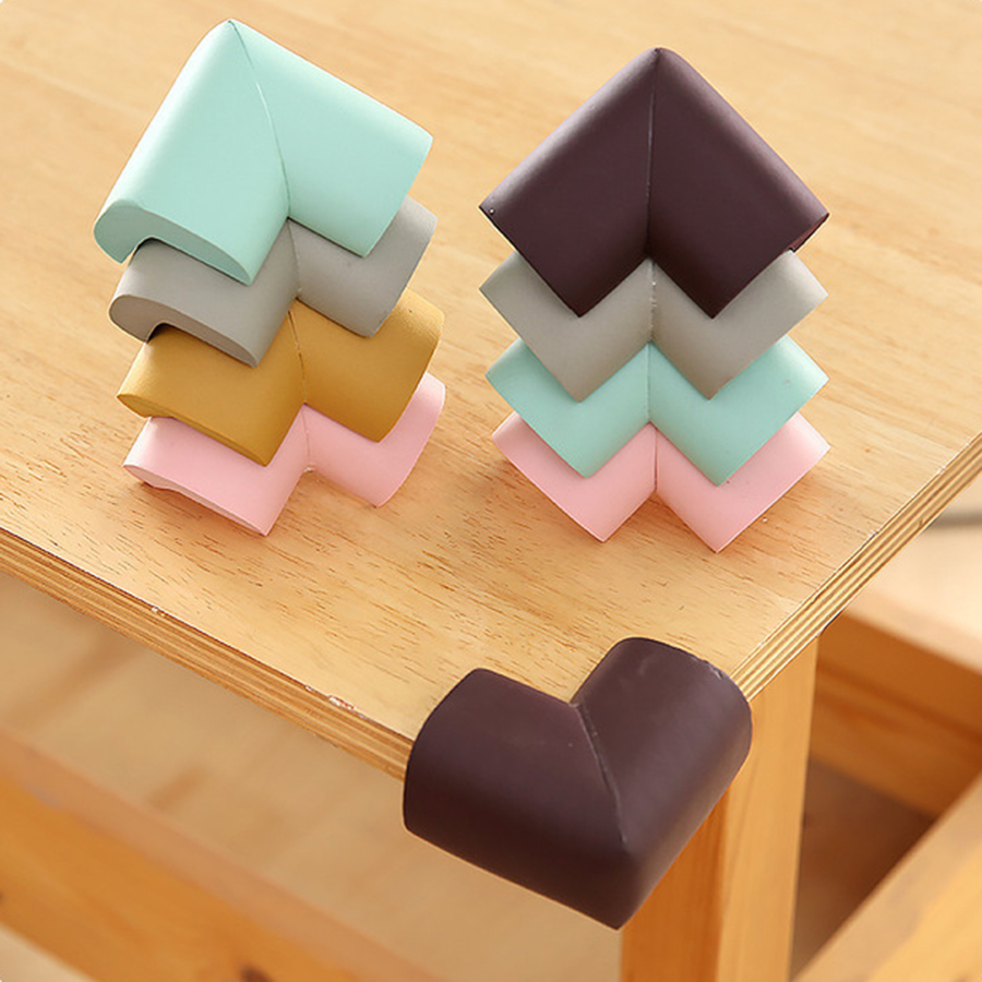 8pcs/lot 55mm*55mm Soft Table Desk Corner Protector Baby Safety Edge Corner Guards For Children Safety Protect Tape Cushion