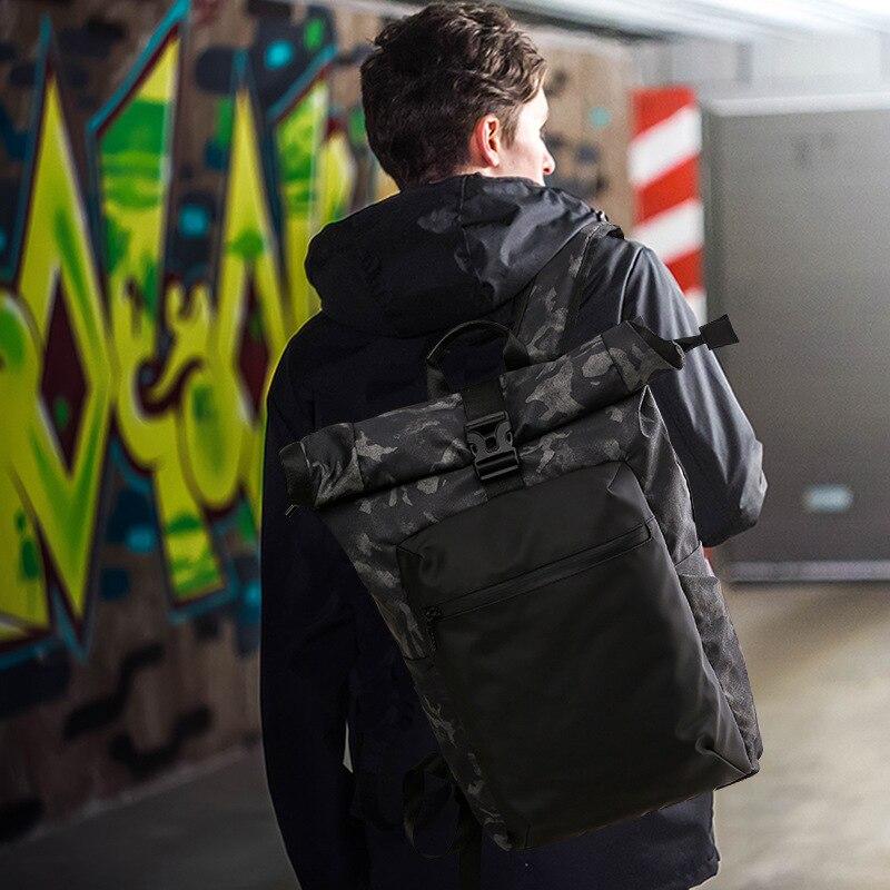 Men Casual Camouflage Printing Waterproof Male Backpacks Women Buckle Laptop Back Pack Travel Bagpack School Bags for Boy цены онлайн