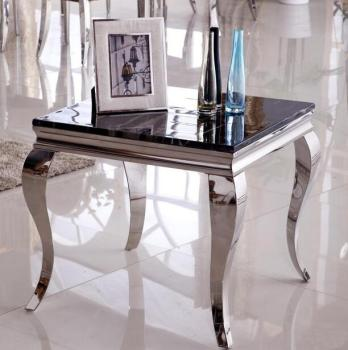 Fashion stainless steel side table small coffee table marble glass side a few sofa side a few corner a few mobile renmen side table walnut