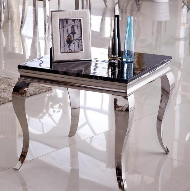 Fashion stainless steel side table small coffee table marble glass side a few sofa side a few corner a few mobile