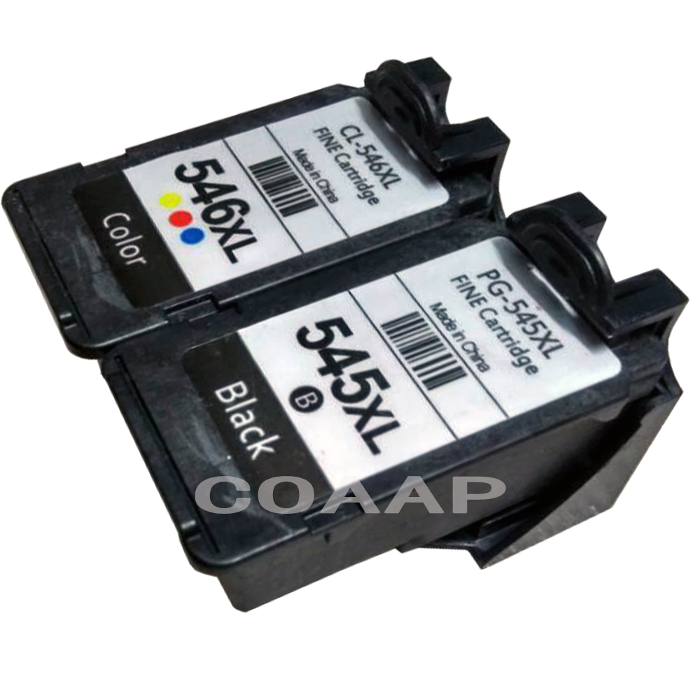 2pk Compatible Canon 545 546 XL Refillable ink cartridge for Pixma MG2400 MG2450 MG2500 MG2550 MG2580 MG2950 MX495 IP2880 IP2850 2pcs canon pg545 cl546 545xl 546xl ink cartridge compatible for canon pixma mg3050 2550 2450 2550s 2950 mx495 ip2850