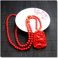 Package Postal Opening The Light 12 The Chinese Zodiac Rat Pendant Chinese Zodiac Cinnabar Necklace Sweater