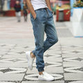 Nuevo Mens de la Marca de Calidad Biker Jeans 2016 Nuevos Pantalones Vaqueros de la Llegada Hombres de La Moda Slim Fit Cordón Pantalones de Mezclilla Hombres