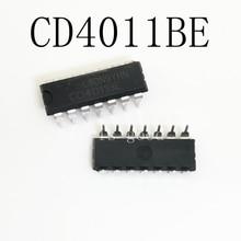 100pcs/lot CD4011BE DIP-14 CD4011 CMOS NAND GATES IC