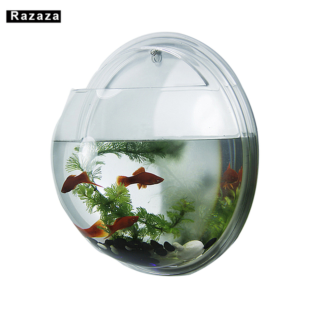 Creative Acrylic Hanging Fish Bowl Home Decoration Aquariums Flower Pot Decor Tank Vase Wall