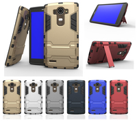 For Coque LG G4 LGG4 Case Armor Silicone PC Stand Hard Back Cover For LG G4