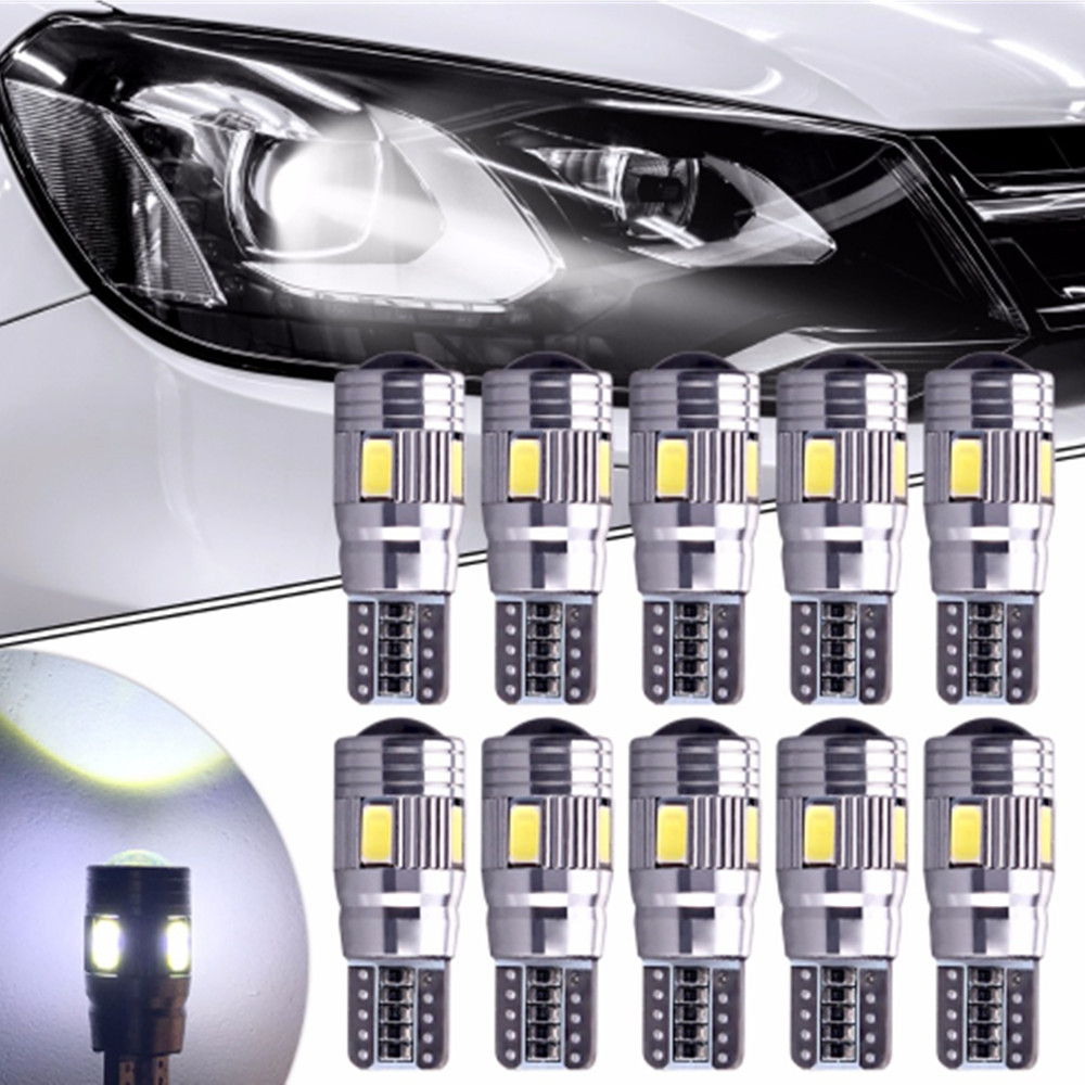 10PCS Car-styling T10 LED W5W 6SMD 5630 For Mitsubishi Asx Lancer 10 Outlander Pajero Sport 9 L200 Colt Carisma Galant Grandis kalaisike custom car floor mats for mitsubishi all model asx outlander lancer pajero sport pajero dazzle car styling accessories