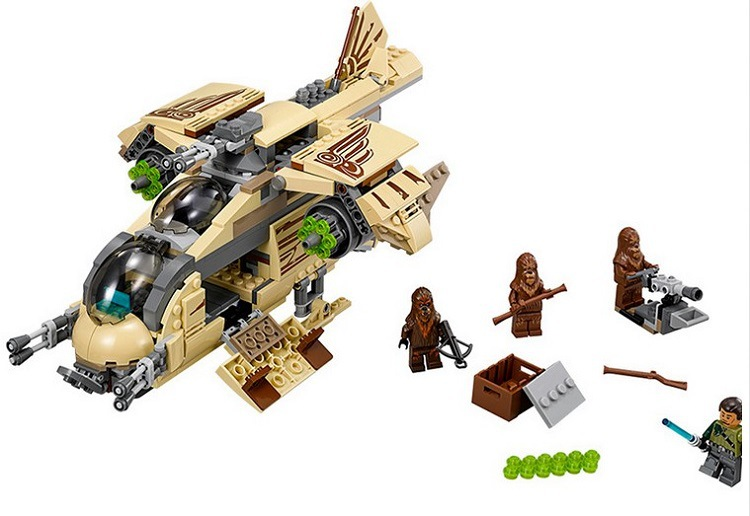 BELA Building Blocks 10377 Compatible with Space Wars Figures Wookiee Gunship 75084 Model Educational Toys for Children Gifts new bela 10377 star wars wookiee gunship model building blocks sets wullffwarro kanan bricks