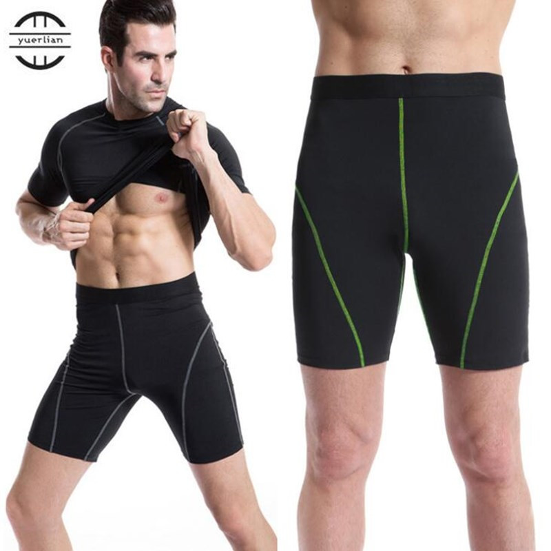 200p Men Pro Fitness Tight Fitting Shorts,Cool High Elastic Breathing Quick-dry Wicking Sporting Beach Board Shorts Fifth Boxers