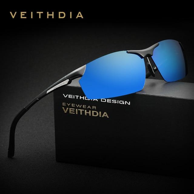 OCCHIALI DA SOLE VEITHDIA di Alluminio E Magnesio Occhiali Da Sole Polarizzati Degli Uomini del Rivestimento degli uomini Occhiali Da Sole A Specchio oculos Maschio Occhiali Per Gli Uomini 6511