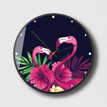 Green Planted Pineapple Wall Clock Modern Minimalist Plant Decoration Wall Clocks Restaurant Tea Room Universal Watches